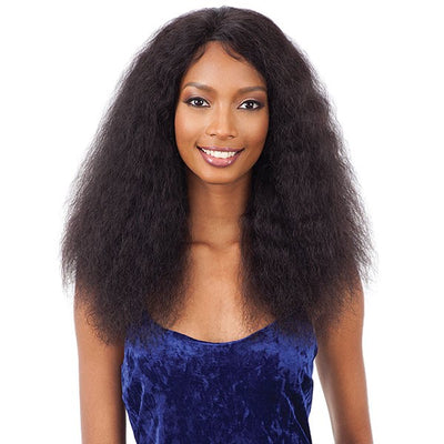 Shake N' Go Naked Brazilian Natural 100% Human Hair Lace Front Wig - Deep Curl