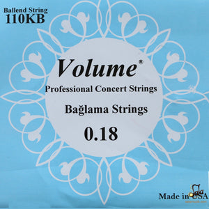 baglama ball end strings