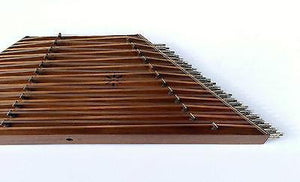 Front view of Professional 12 Kharak Santoor AS-403