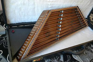 Top front view of Sadeghi Dulcimer With Hard Case