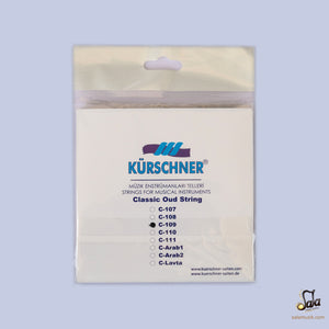 Professional Strings For Turkish Oud Kurschner 0.09 KSO-109 back cover