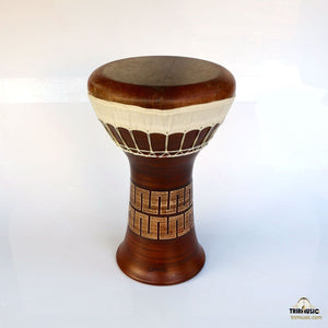 Professional Clay Ceramic Solo Darbuka By Emin Percussion EP-104-A front view