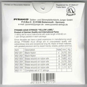Professional Oud Strings Arabic Syrian Tuning Pyramid PSO-652 back cover