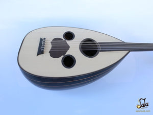 Arabic Handmade Walnut String Instrument Oud Ud AAO-108G (face view)