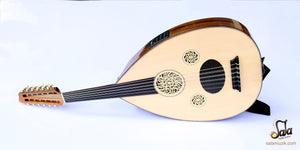Left Hand electric oud with guitar pegs