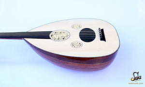 Professional Left Hand Turkish Oud HSO-302L face