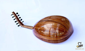 Back view of Professional Left Hand Turkish Oud HSO-302L
