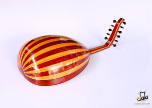 back of oud instrument