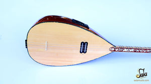 acoustic baglama saz pickup installed