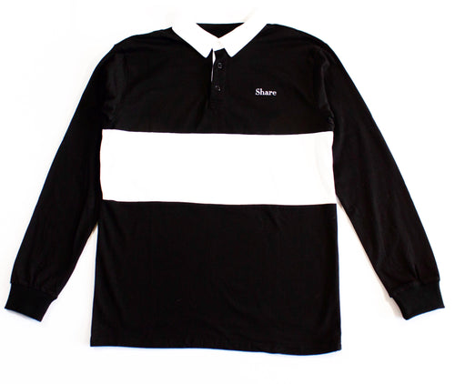 Classic Logo Black/White Rugby