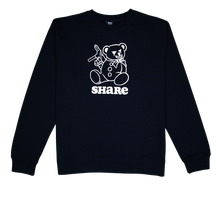 Load image into Gallery viewer, Share Bear Crewneck Black