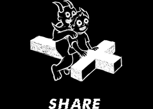 Share Devil T-Shirt Black