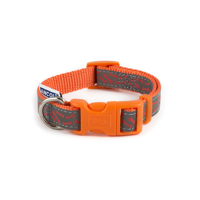 Ancol Refl Bone Collar Orange