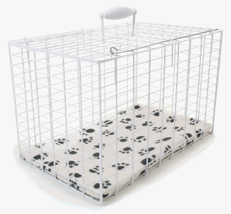 White Wire Pet Carrier Large