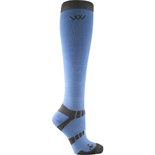 Bamboo Long Riding Socks S Blue (2)