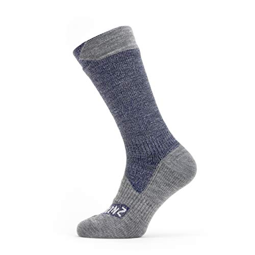 Sealskinz WP All Weather Mid Sock S Navy/Grey