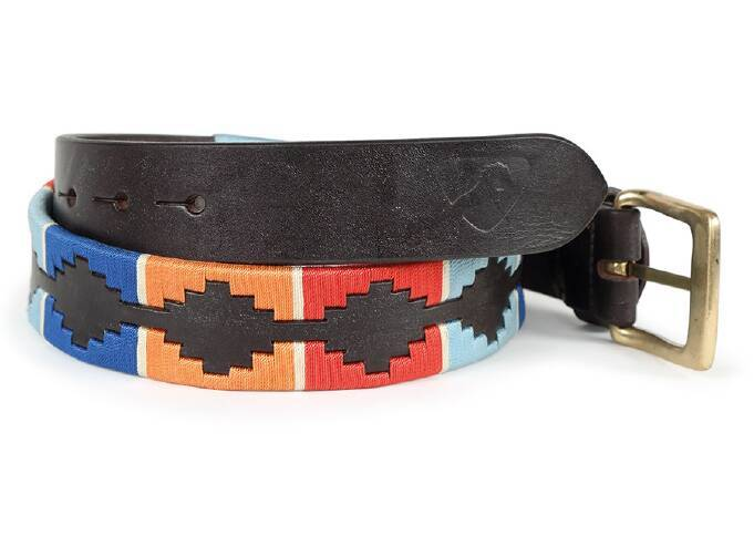 Drover Polo Belt Turquoise/Red/Blue