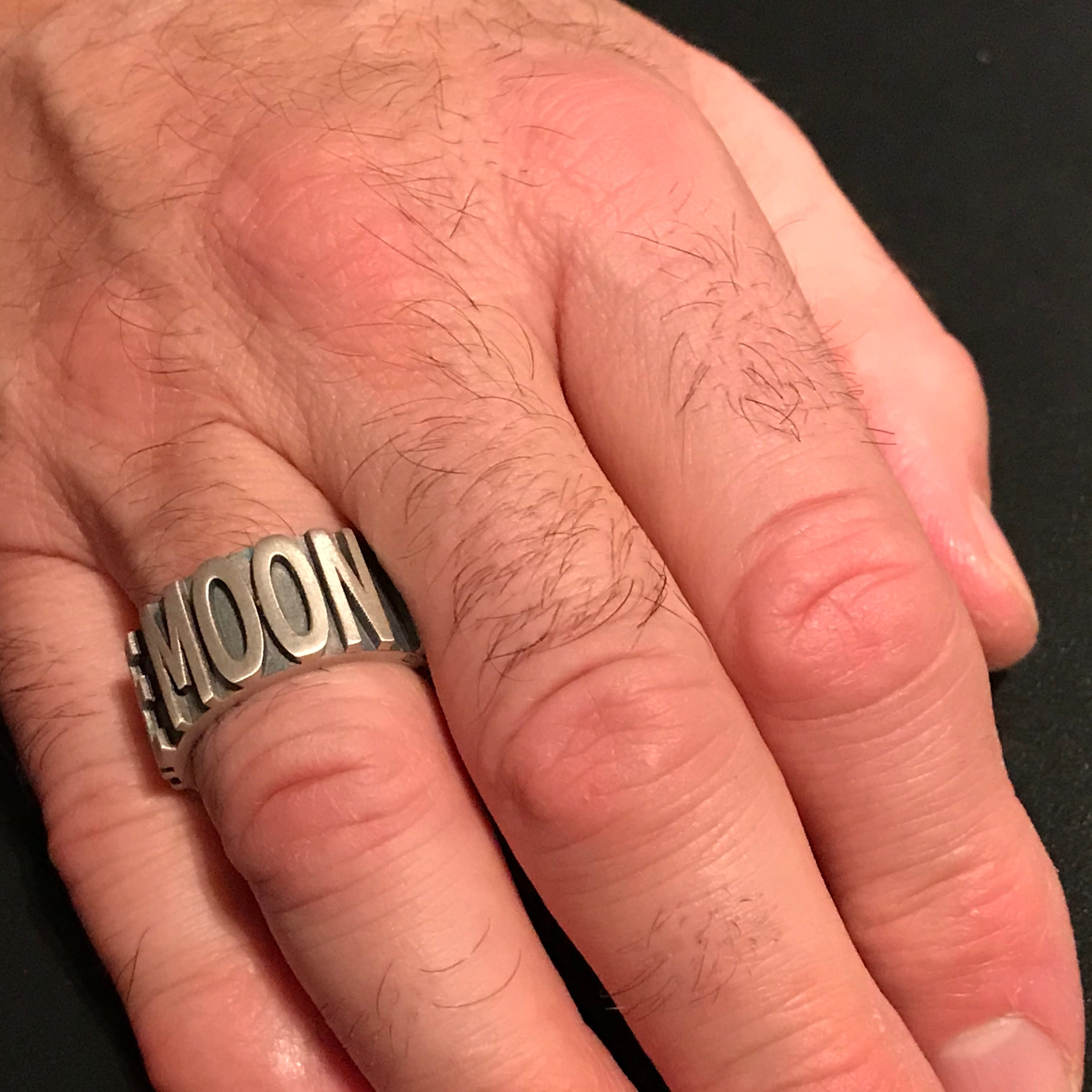 FLY ME TO THE MOON silver ring