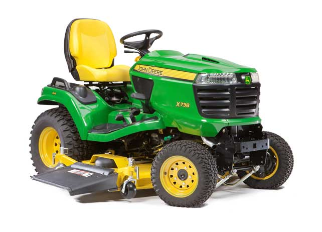John Deere X738 Signature Series 4 Wheel Drive Tractor - No Mower Deck