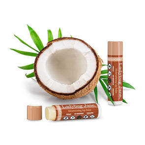 The Ladybug Jane Ultra Moisturizing Organic Lip Balm travel product recommended by Sherri on Pretty Progressive.