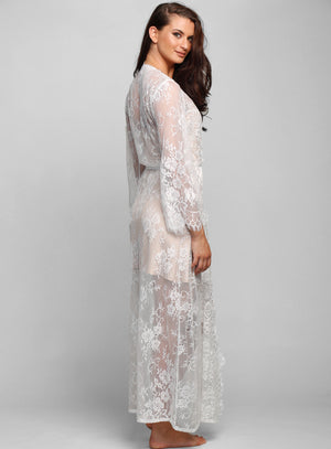 Cassis Long Lace Robe