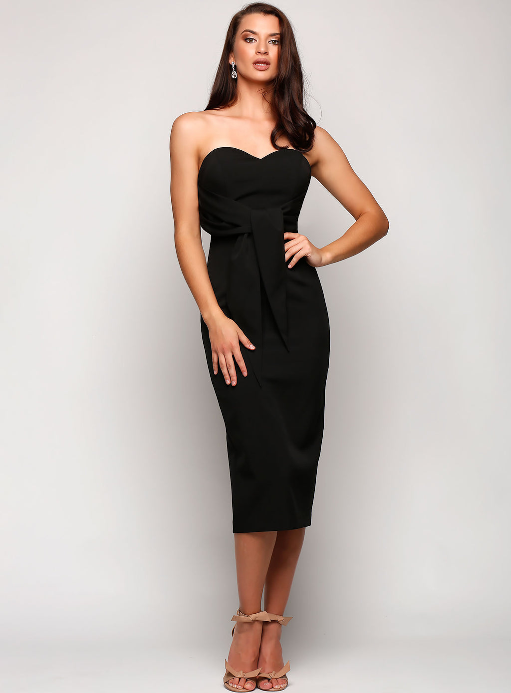 Aria Tie Waist Cocktail Dress