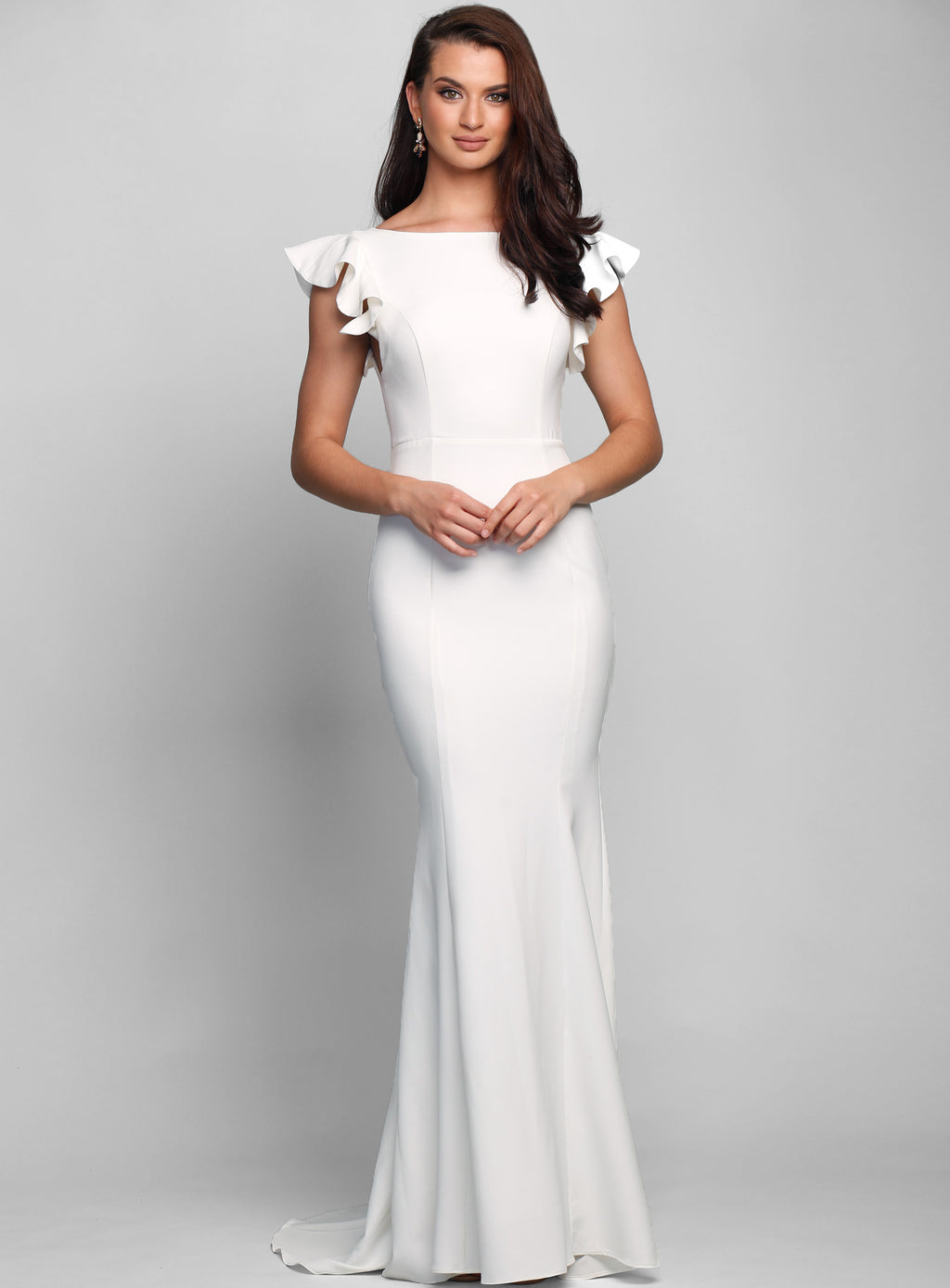 Holly Flutter Sleeve Gown