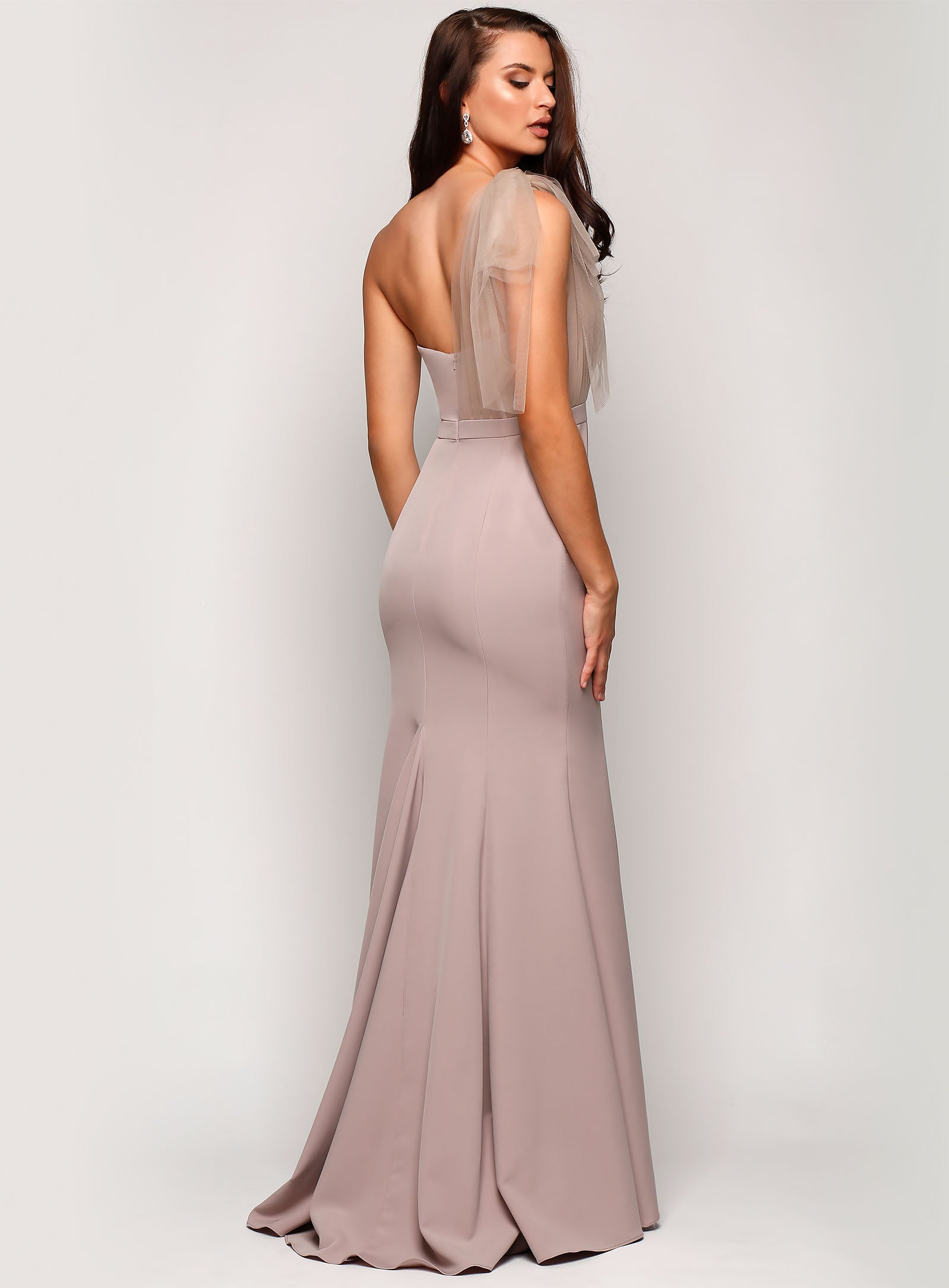 Marissa One Shoulder Tulle Dress