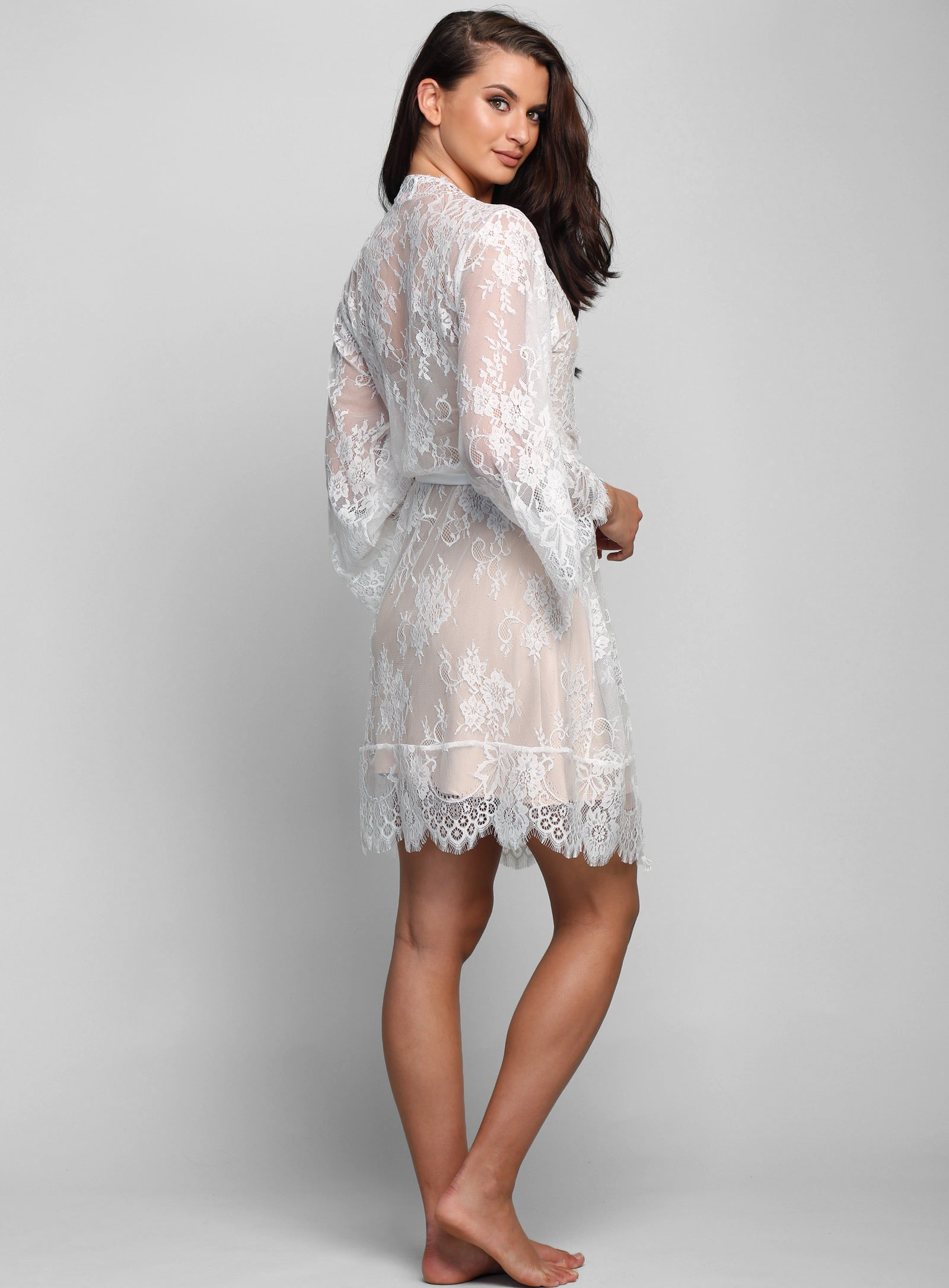 Lyon Short Lace Robe