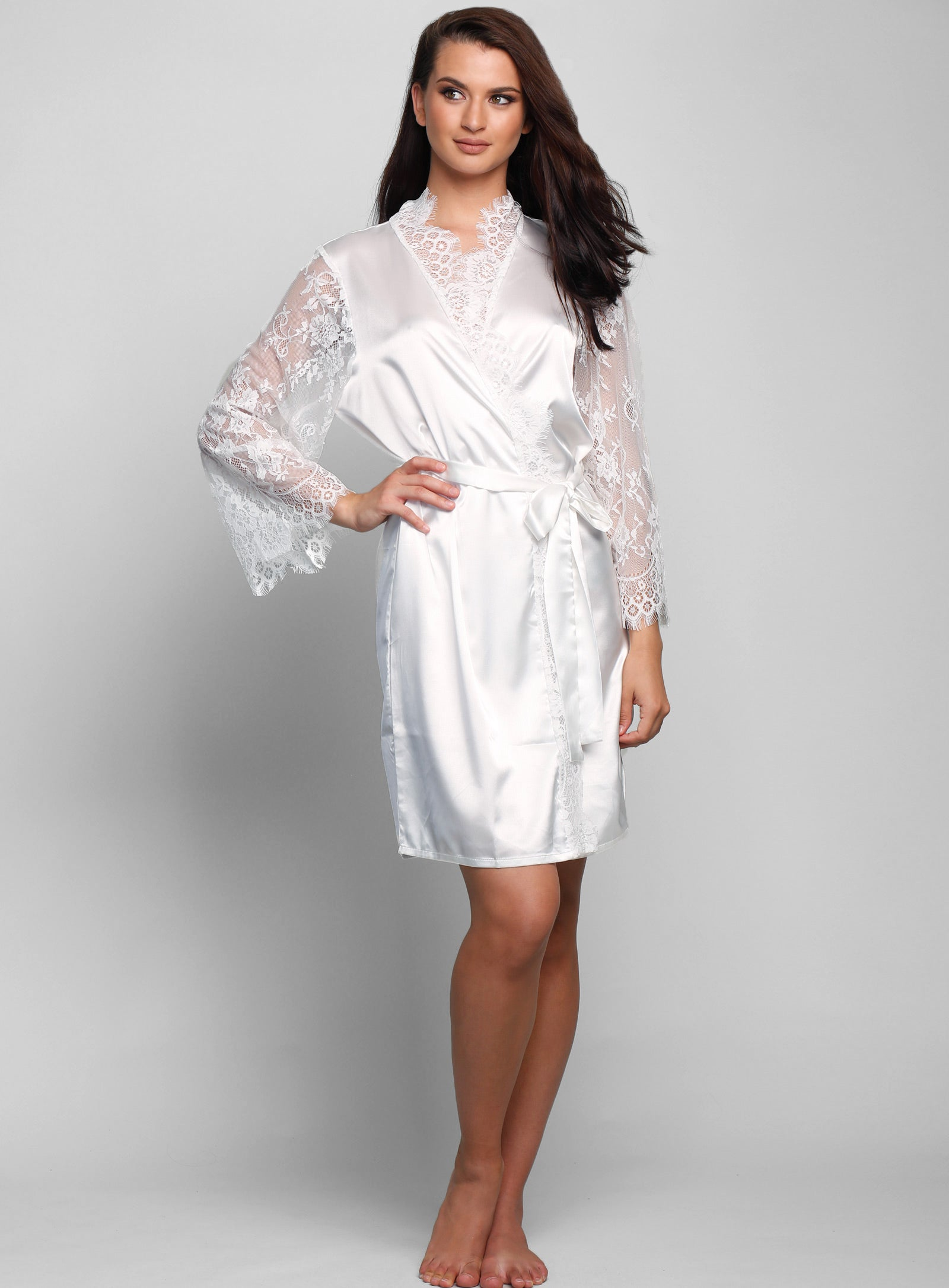 Marsielle Satin Lace Robe