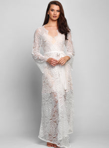Toulon Bohemian Long Lace Robe
