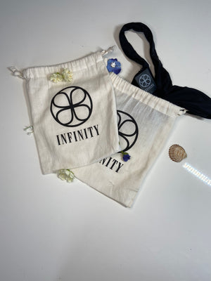 2x White Cotton Bag