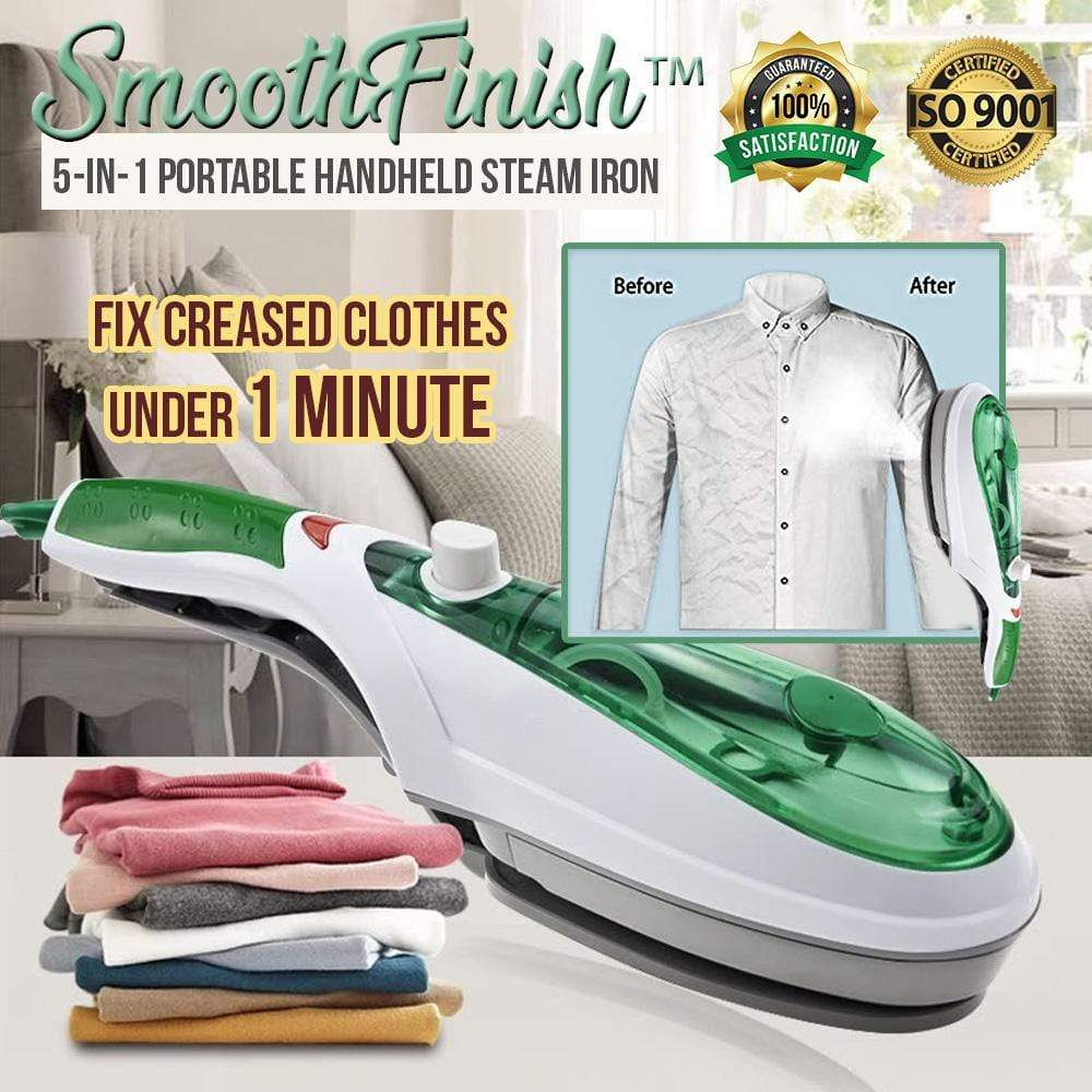 SmoothFinish™ 5-in-1 Portable Handheld Steam Iron - HOT