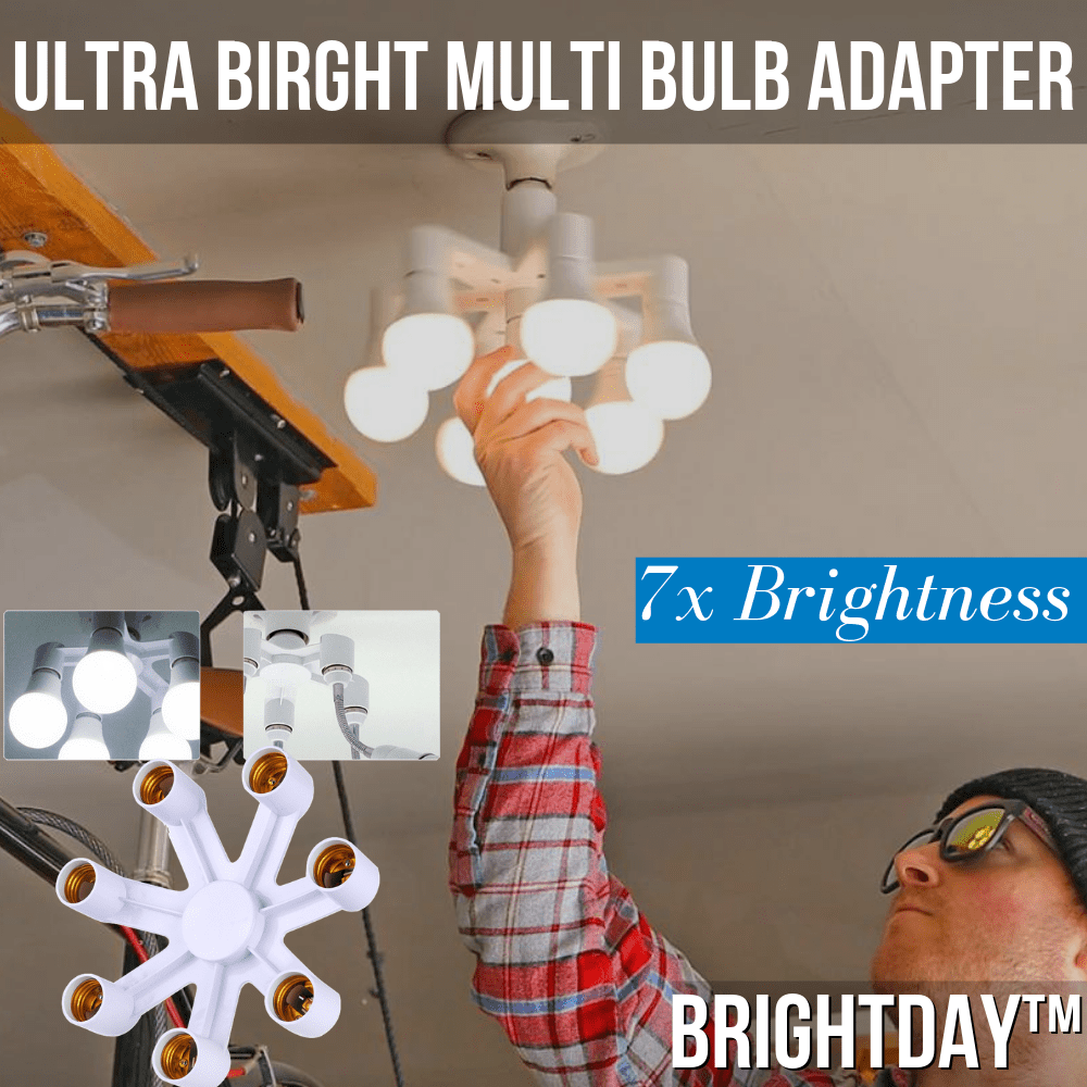 BrightDay™ Multi Lightbulb Adapter (7x Brightness!)