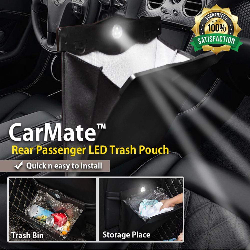 CarMate™ Rear Passenger LED Trash Pouch