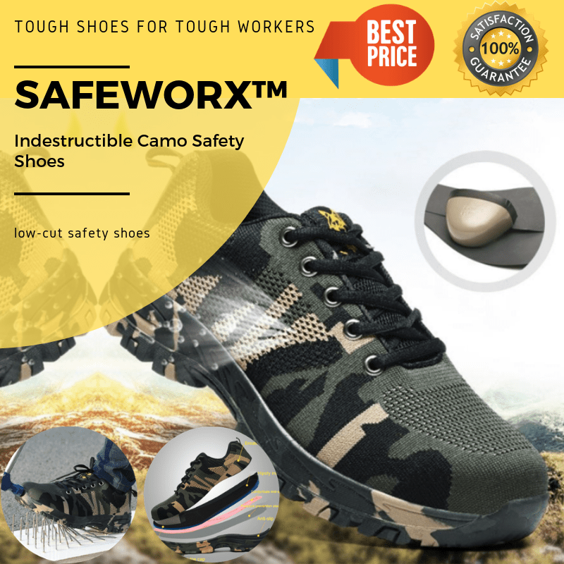 SAFEWORX™ Indestructible Camo Safety Shoes
