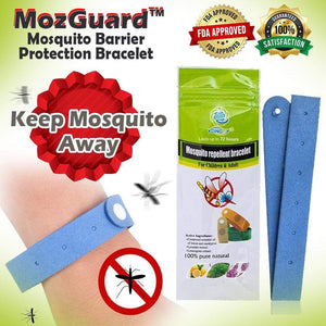 MozGuard™ Mosquito Barrier Protection Bracelet (JUMBO 10 PACK!)