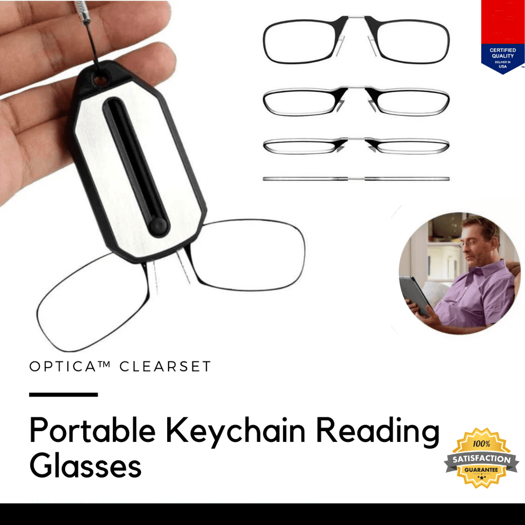 Optica™ ClearSet Portable Keychain Reading Glasses