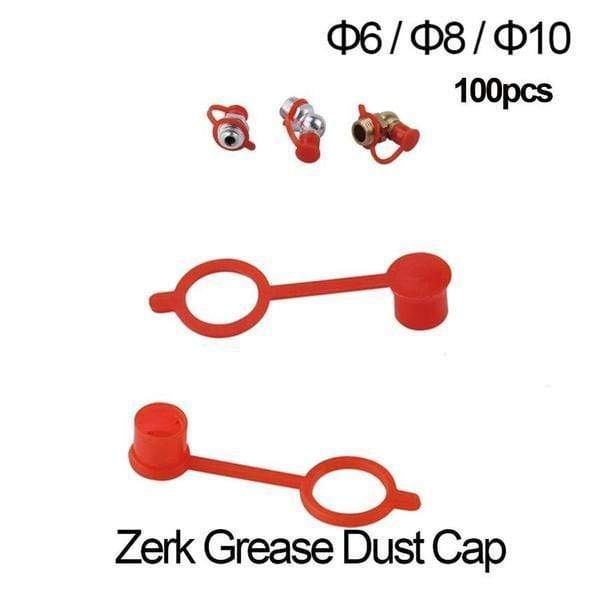 GreaseFix™ 300pcs Mix Size M6 M8 M10 RED Dust Caps