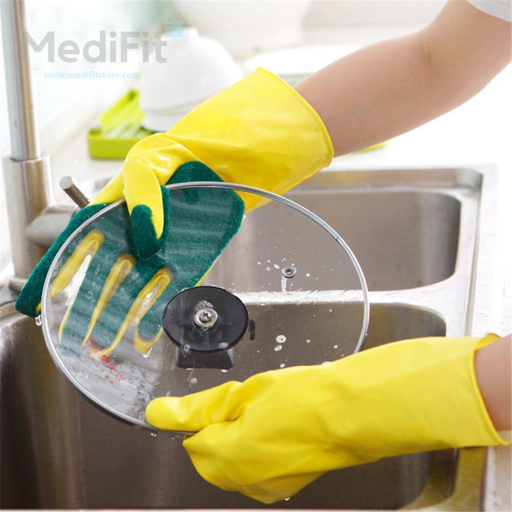 SchönDry™ Scrub Dish-washing Gloves