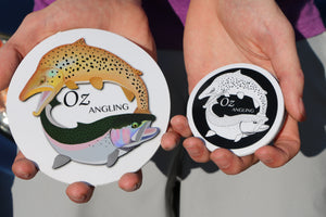 OZ Angling Stickers