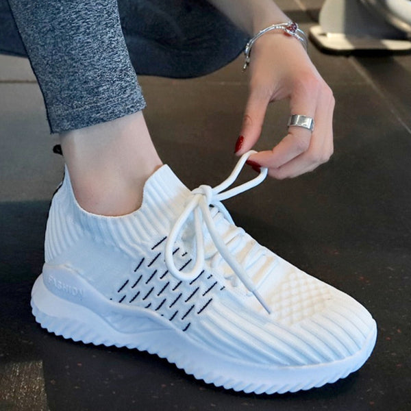 Womens net running workout sneakers casual shoes (wh)