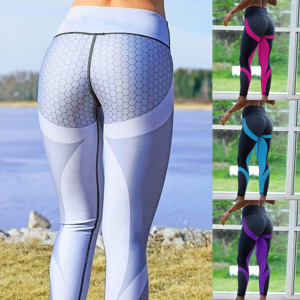 Womens Fitness Sports Words Yoga LEGGINGS Tights (Rblk Dl199)
