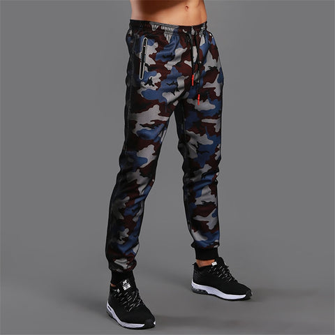 Mens Fitness Sports Workout Gym Exercise Running Trousers Pants (multi D054)