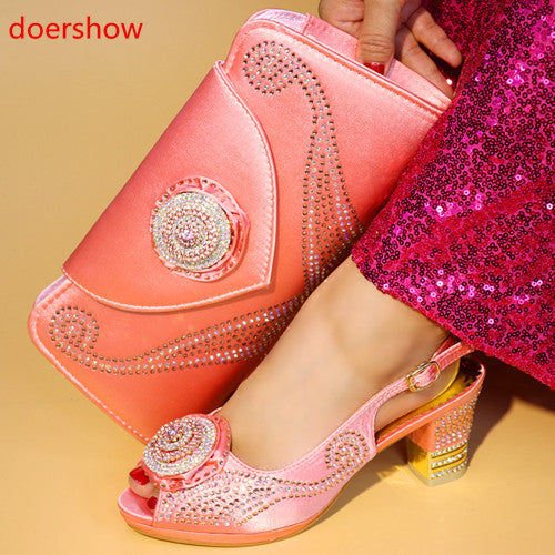 Women heels hand bag purse shoes Weddding (r dexp00)