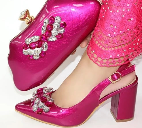 Women heels purse luxury butterfly set (pi dexp00)