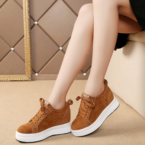 Womens platforms walking sneakers casual shoes (brwh)