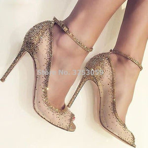 Women heels shoes Wedding glitter (gld d00)