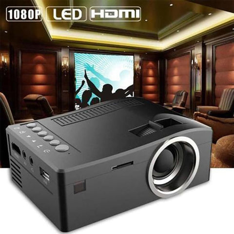Portable mini hand held projector LED max 1080P HDMI / USB / AV / HD / SD projector cinema (blk d173)