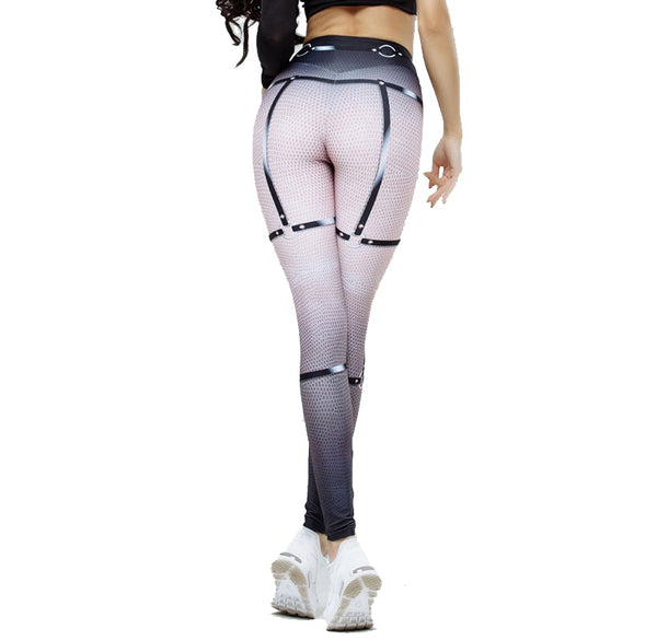 Womens prints yoga LEGGINGS tights (bl d432)
